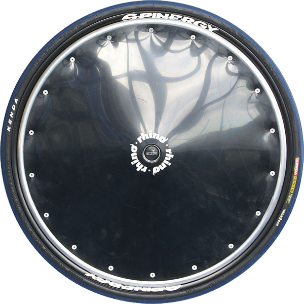 Black Poly Spoke Guard with Alloy Hand Rims (Sports)